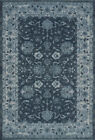 Dalyn Teal Scrolls Vines Leaves Traditional-European Area Rug Bordered GV4448