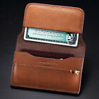 New KS Mens Fashion Genuine Leather Coin Pocket Change Brown Wallet Card Holder