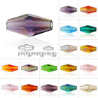 50/72pcs Crystal Loose Beads Double Cone Fit Bracelet Necklace Jewellery