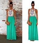 Sexy Lady Summer Boho Long Maxi Dress Evening Party Beach Dresses Chiffon Dress