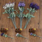 10 Heads Artificial Touch Lavender Silk Flower Bouquet Wedding Home Party Decor