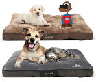 Scruffs Chester Pet Dog Cat Mattress Non Slip Base 2 Sizes Graphite Chocolate