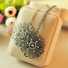 1pcs New Girl Bohemia Pattern Hollow Flower Sweater Pendant Necklaces Chain