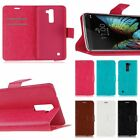 Luxury Magnetic Flip Leather Slot Wallet Pouch Case Skin Cover Stand For LG K10