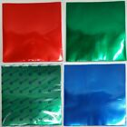 """Coloured 12"""" Record Sleeves Vinyl PVC Covers LP Sleeve Blue Red Green 5 Pack"""
