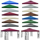 3x3m Garden Gazebo Top Cover Roof Replacement Fabric Tent Canopy 2-tier 1-tier