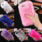 New Cute  Rabbit Fur Crystal Rhinestone Case Cover Bag  For Iphone6/6S/Plus