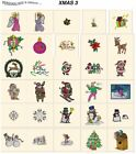 XMAS 3. CD or USB machine embroidery designs files most formats holidays