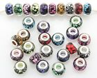 10 x 50 x 100 x Big Hole Flower Beads Mix For Charm Bracelet Choose Qty ZH11