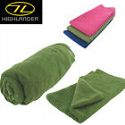 HIGHLANDER CAMPING CARAVAN MICRO FIBRE TOWELS ALL SIZES AND COLOURS TRAVEL CAMP