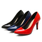 Ladies' Fashion Shoes Synthetic Leather High Heel Shiny Pumps AU Size 2-10 s718