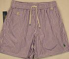 Polo Ralph Lauren Swim Briefs Shorts Purple Checked Swimming L & XL NWT