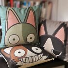 Big Eyes Pointed Ears Cats Pillow Case Cartoon Decor Cushion Cover Square 18""