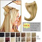 New Arrival Flip Invisible Wire Headband 100% Remy  Human Hair Extensions 16""