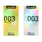 Okamoto 003 Real Fit condoms Super Ultra THIN Platinum Latex standard skinless