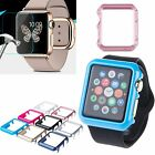 Tempered Glass Screen Film+Slim Frame Hard Case For Apple Watch iWatch 38/42mm
