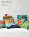 Cartoon Colorful Cute Animal Pillow Case Cushion Cover Square Oblong Home Decor