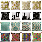 Vintage Bohemia Style Colorful Geometric Cotton Linen Pillow Case Cushion Cover