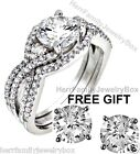 Sterling Silver 925 Round cut Halo Simulated Diamond Engagement Ring Wedding Set