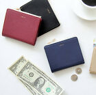 Caily Slim Wallet Half Purse Zipper Zip Around Card Pocket Case Coin Holder