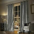 KYLIE MINOGUE ILIANA SILVER LINED VELVET RING TOP CURTAINS DRAPES *5 SIZES*