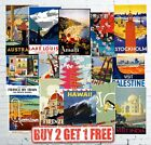 Large Vintage Popular Retro Travel & Railway Posters Wall Art Prints A1/A2
