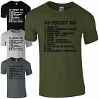 My Perfect Day Landrover T-Shirt - Funny Dads Off-Road List 4x4 Mens Gift Top