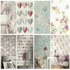 SHABBY CHIC FLORAL WALLPAPER IN VARIOUS DESIGNS WALL DECOR NEW FREE P+P