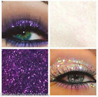 Glitter Eyes - Duo Violet & Clear Holographic Eye Shadow Fixing gel Long Lasting