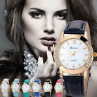 2016 Geneva Fashion Watch Women Crystal Analog Leather Watch Quartz Wrist Watch