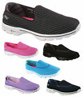 Ladies New Skechers Go Walk 3 Shoes Trainers Fitness Black Navy Turquoise Pink
