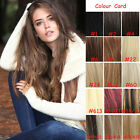 """Thick Full Head Clip In 100% Real Human Straight Hair Extensions 120G -160G 24"""""""