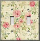 Shabby Chic Home Decor - Light Switch Plate Cover - Pink Roses On Cream