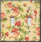 Floral Home Decor - Light Switch Plate Cover - Peach Roses On Peach