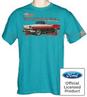 FORD FAIRLANE 1959 CONVERTIBLE 500 CLASSIC '59 CAR SHOW GRAPHIC PRINTED T-SHIRT