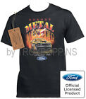 1--'69 RUNNING WILD STREET METAL FORD MUSTANG CAR SHOW GRAPHIC PRINTED T-SHIRT