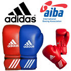NEW ADIDAS TRAINING BOXING GLOVES OFFICIAL 'AIBA' LICENSED RED