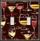 Kitchen Light Switch Plate Cover - Italian Wine Cheers Chin Chin - Bar Decor