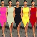 Sexy Womens Summer  Sleeveless Evening Party Bodycon Short Mini Dress 5 Colors