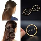Women Ladies Geometric Design Hair Pin Boho Hair Bobby U Pin Clip Golden/Silver