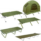 Highlander Camp Fishing/Camping Beds - Olive, Aluminium, Balmore, Torran