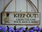 BULLMASTIFF SIGN KEEP OUT SIGN DOG SIGN WARNING SIGN BEWARE OF THE DOG SIGN GIFT
