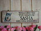 PERSONALISED ALASKAN MALAMUTE SIGN WELCOME SIGN GARDEN SIGN HOUSE SIGN DOG SIGN