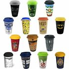 Ceramic Travel Mug Harry Potter / Batman / Dr Who / Ghostbusters New + Official