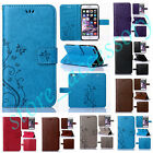 New Butterfly PU Leather Card Slots Money Stand Holder Case Cover For Cellphones