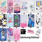 Patterned Stand Leather Wallet Phone Case Filp Cover For Samsung S7 A3 J5 2016