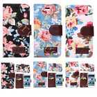 Rose Flowers Painted Cloth Case Tuff Fold Card Pocket Stand Cover For Cellphones