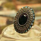 Womens Accessories Adjustable Vintage Antique Gift Rhinestone Diamante Ring