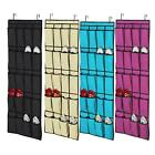 New 20 Pocket Over the Door Shoe Organizer Space Saveing Rack Hanging Storage