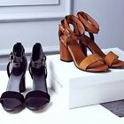 New Summer Women's Vintage Open Toe Sandal Waterproof Fashion High Heel Shoes